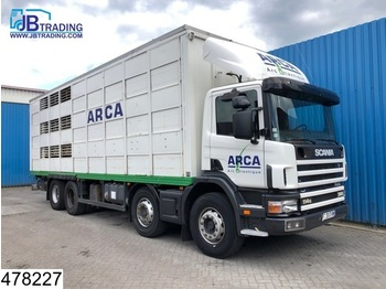 Scania 114 380 8x4, Manual, Retarder, Animal transport, 3 layers, Remote - camion bétaillère
