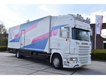 Camion fourgon Scania R440 TL 4x2 - RETARDER - EURO 5 - PARK. AIRCO - LEATHER SEATS - SIDE DOOR - ELEVATOR -