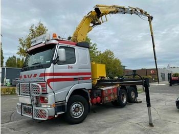 Tracteur routier Volvo FH 12-460 6X2 MANUAL EURO 2 + EFFER 460 6S + JIB